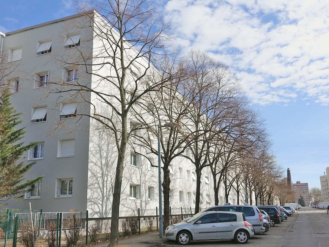 Detry-Levy architectes rénovation de la résidence La Chaumine à Vénissieux