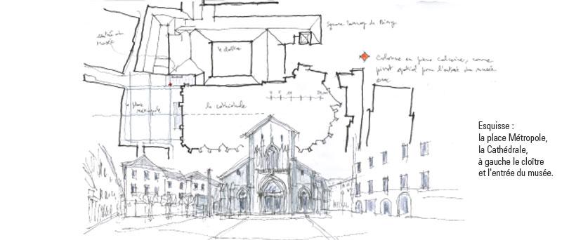 Detry Levy rénovation du musée Savoisien à Chambéry simulation